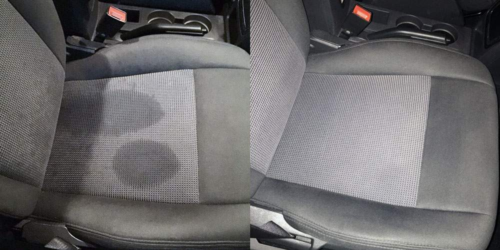 ta bort fläckar på bilklädsel