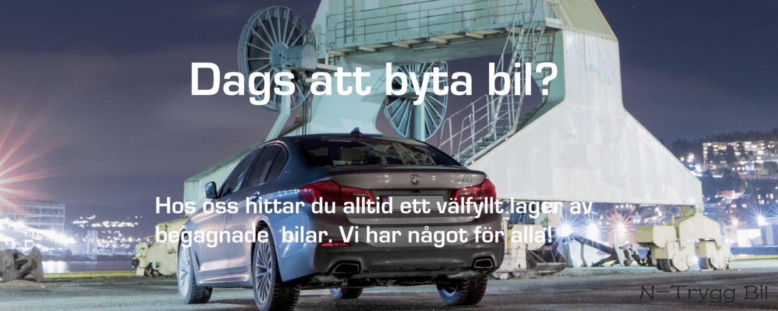 N-Trygg Bil, startsida hemsida, bilförsäljning, BMW, car