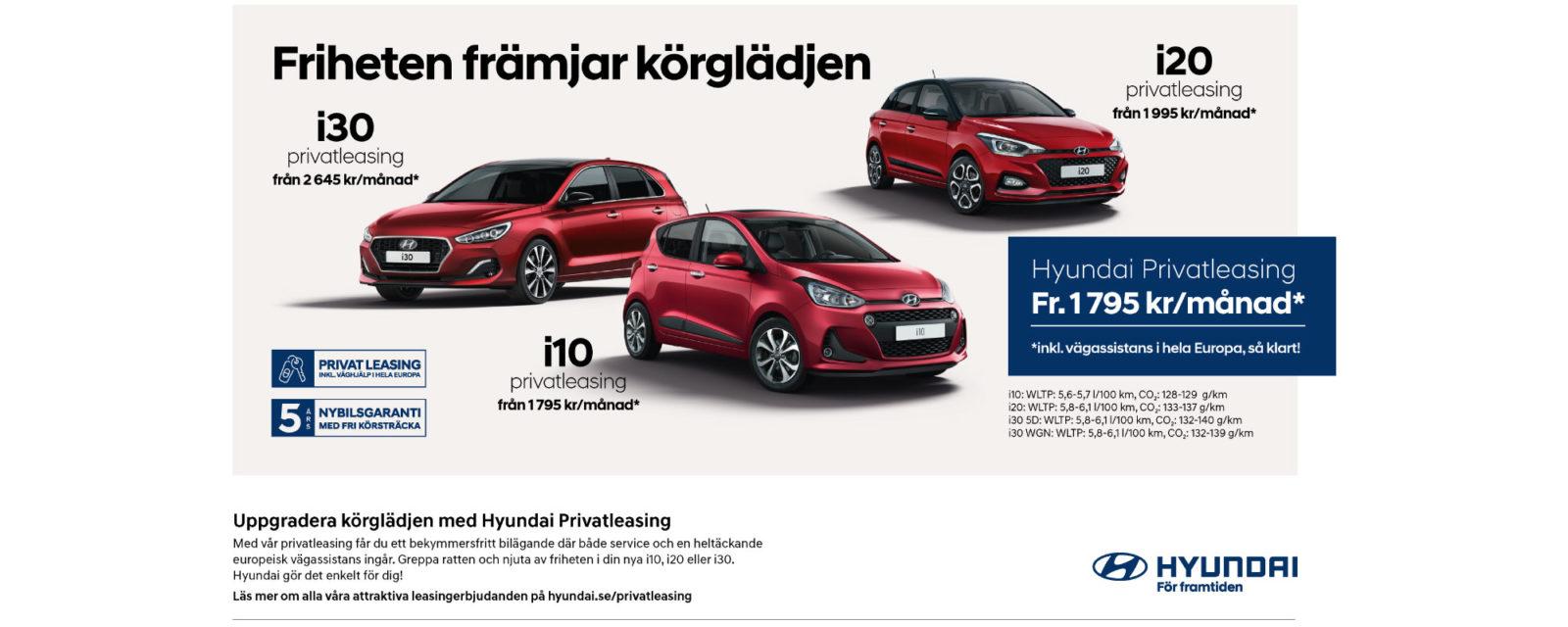 Privatlesing Hyundai