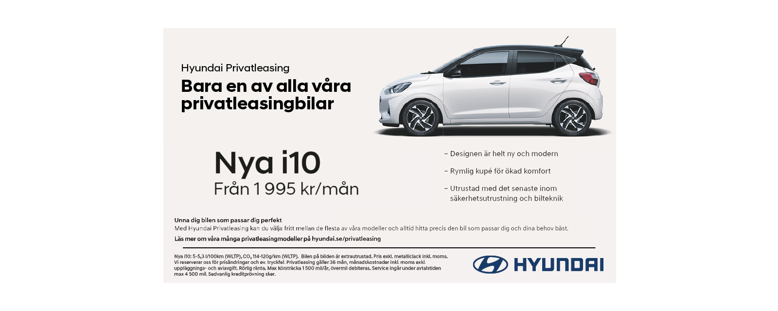Privatleasing Hyundai Nya i10