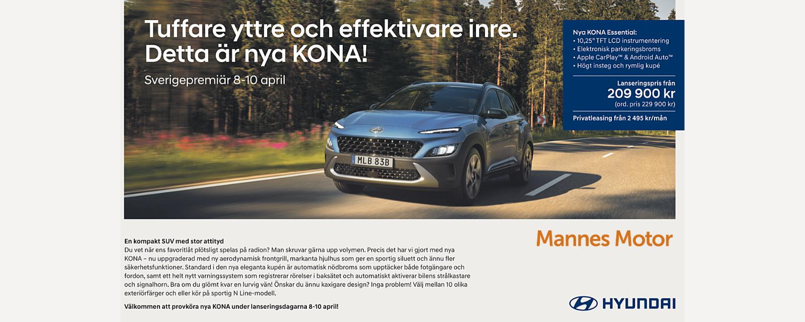 Hyundai KONA, Mannes Motor